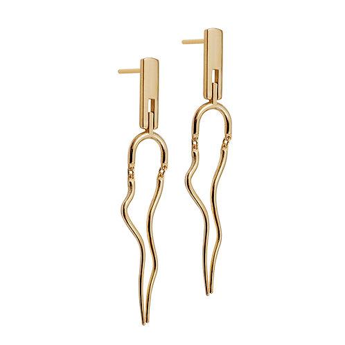 T.E.101 Silver Dangle Earrings