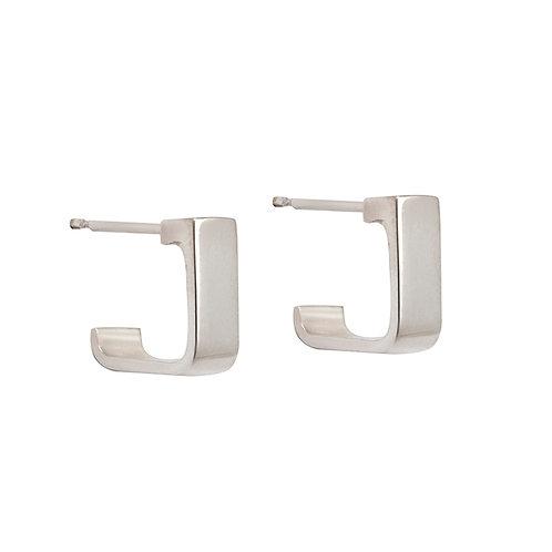 Silver Hoop Earrings B.E.104