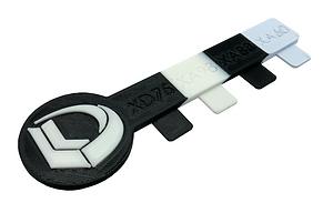 Durometer Key: Multi-Material 3D Print Sample