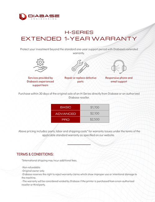 H-Series Extended 1-Year Warranty