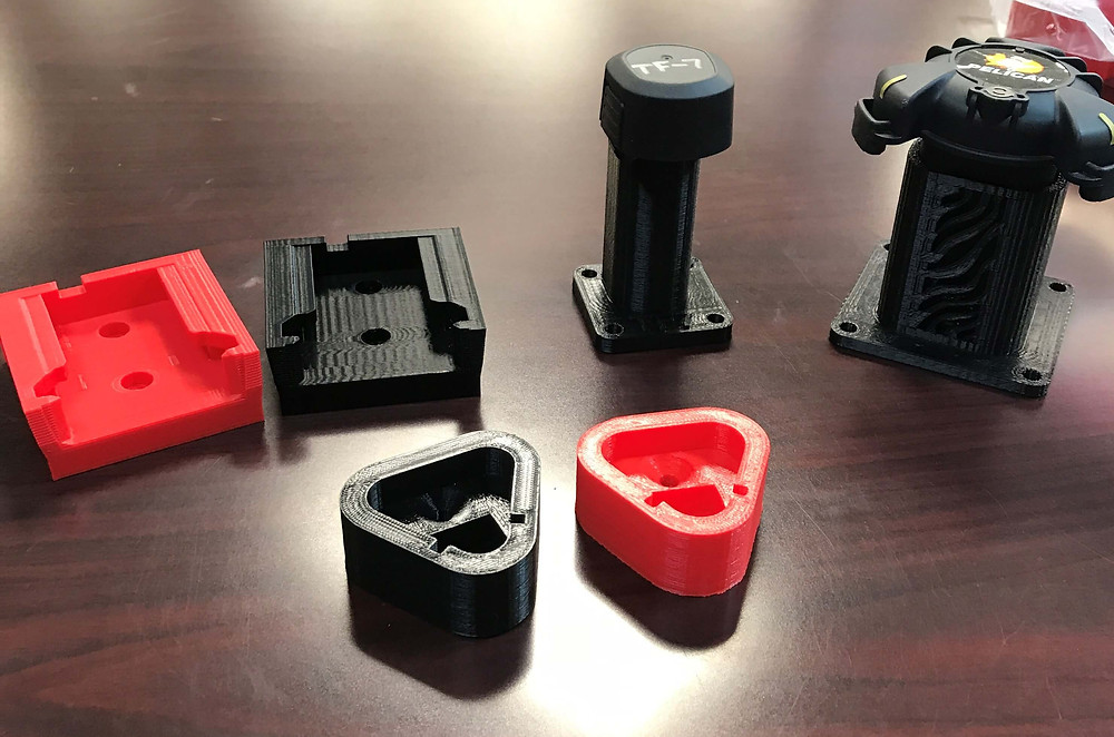 3D printed student projects for local businesses
