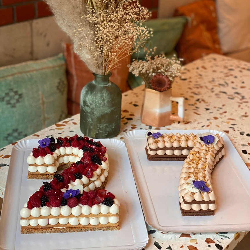 Number Cake Version Vanille (1 chiffre)