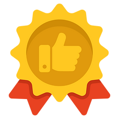 Service Satisfaction Guarantee Gold icon