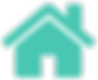 Teal Vector House Icon