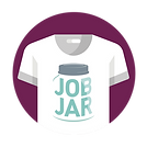White T-shirt Icon with Job Jar Logo - Branded Materials