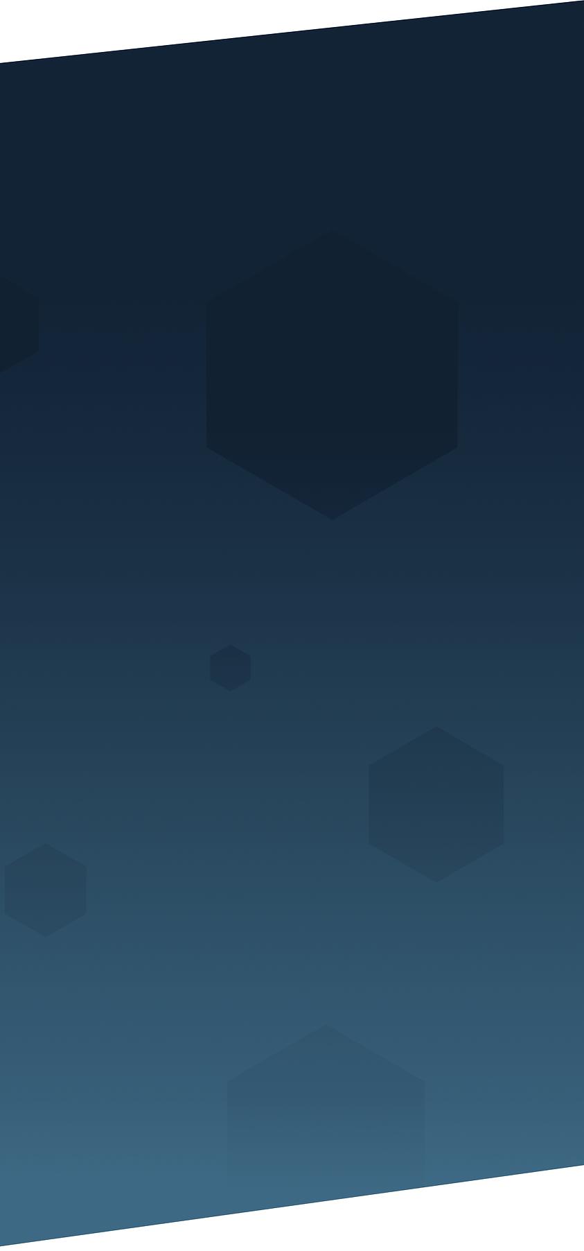Gradient Dark Blue Background With Hexagons