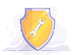 Super Skilled Doer Badge Icon - Wrench Badge Icon