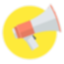 Loudspeaker Icon on a Yellow Background