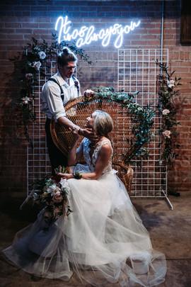Rockin Industrial Wedding Couple