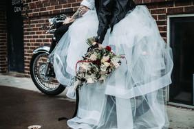 Bridal Couple on their bike