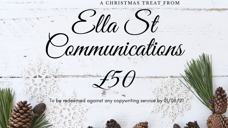 Gift voucher for copywriting from Ella St Communications