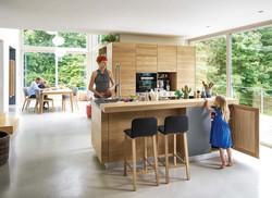 cucina legno massello linee