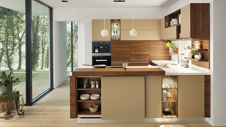 cucina legno naturale linee in noce
