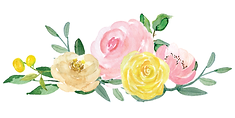 Watercolor pink and yellow roses