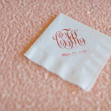 Monogram napkins (So Southern!)
