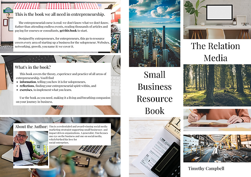 Published Author Tim Campbell Small Business Resource Book