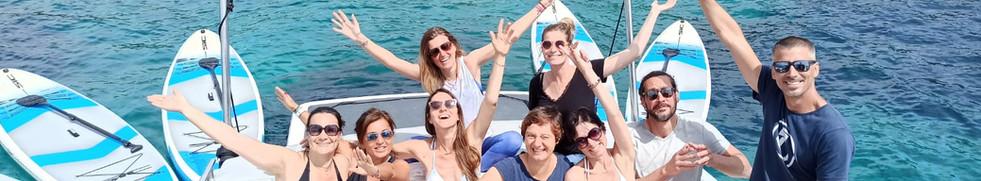 Sortie en bateau aux Iles de Lérins, pad