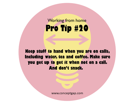 Working from home Pro Tip #20