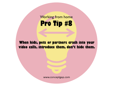 Working from home Pro Tip #8