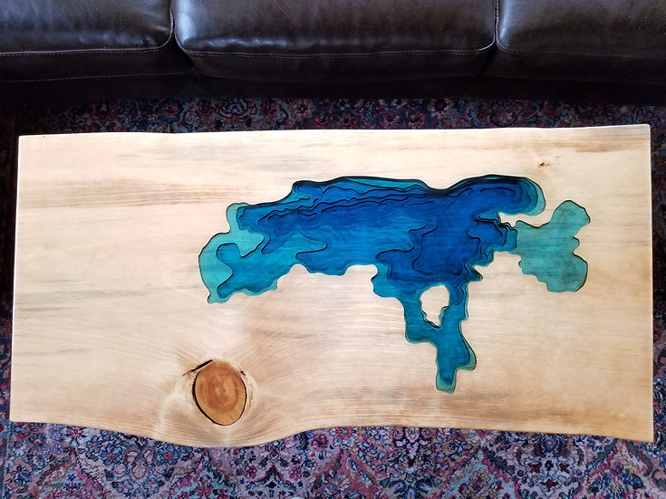 Flathead Lake coffee table