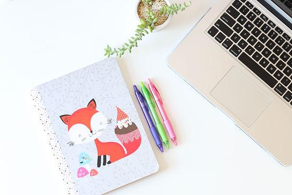 Fox Notebook und Stifte