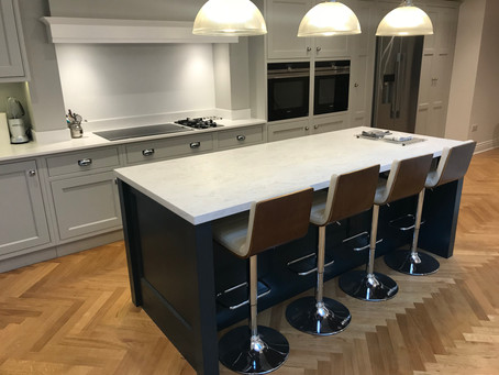 Black Blue fitted kitchen