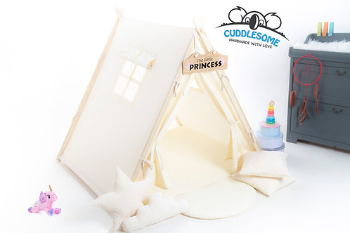 Cream teepee tent for kids by Cuddlesome