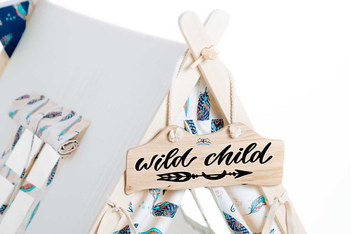 Little chief teepee tent signboard, kids room decoration, personalised gift, teepee tent decoration, oak signboard, personali