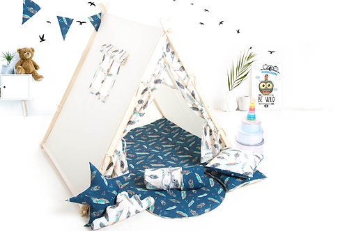 Cremfeathers teepee tent playhouse for kids, nursery decor, Montessori toy, The best birthday gift, grey kids tipi tent, kid