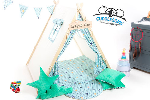 Forest animals teepee tent for kids by Cuddlesome