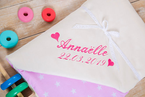 Pink stars blanket, gift for baby shower, baby gift, pink minky blanket, personalised gift, personalised blanket, handmade bl