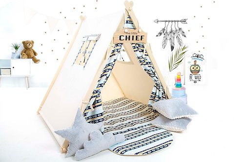Geometric teepee tent playhouse, Montessori toy, Christmas gift, birthday gift, garden playhouse, hideaway tent, kids tipi wi