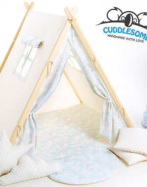 Circle pattern Teepee tent for kid by Cuddlesome