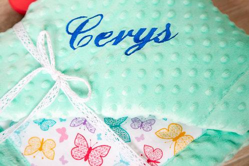 Baby blanket, gift for baby shower, baby gift, grey stars minky blanket, personalised gift, personalised blanket, handmade bl