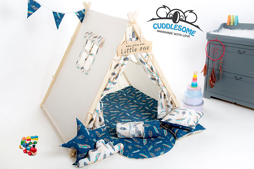 Crem feathers teepee tent playhouse for kids, nursery decor, The best birthday gift,
