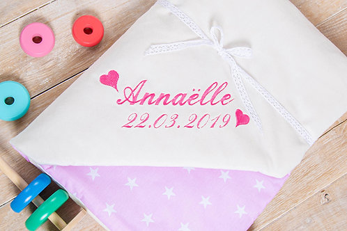 Pink stars personalised blanket, gift for baby shower, baby gift, pink minky blanket, personalised gift, handmade blanket, ba