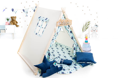 Mint bears teepee ten for children by Cuddleosme, kids teepee with play mat, wigwam room decoration, boys fort teepee