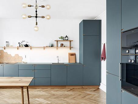 Oak and slate grey kitchen