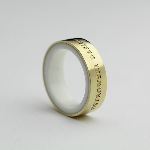 Ring Color-pozłacany