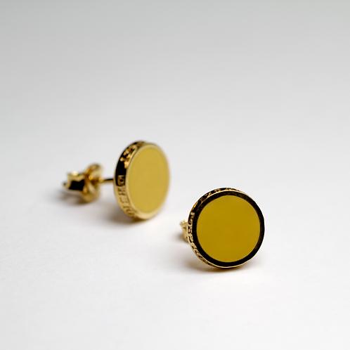 Kolczyki : Pin, żółte złocone