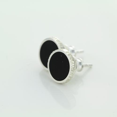 Kolczyki : Pin, czarne