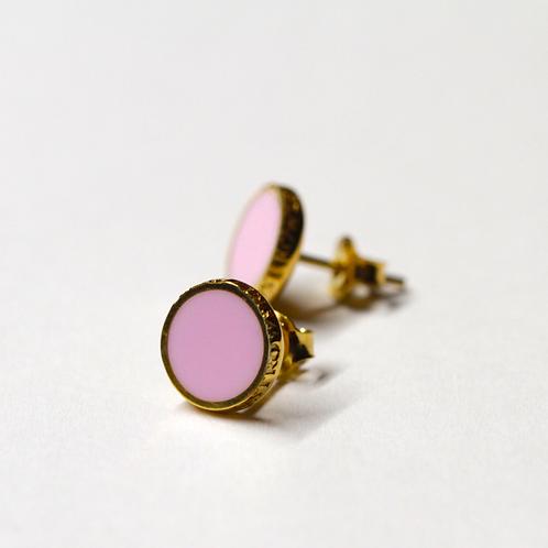 Kolczyki : Pin, różowe złocone