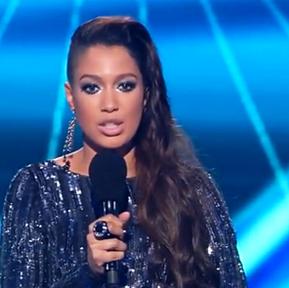 Patricia Kazadi na żywo w programie X-Factor w naszym pierścieniu z kolekcji BIG RING