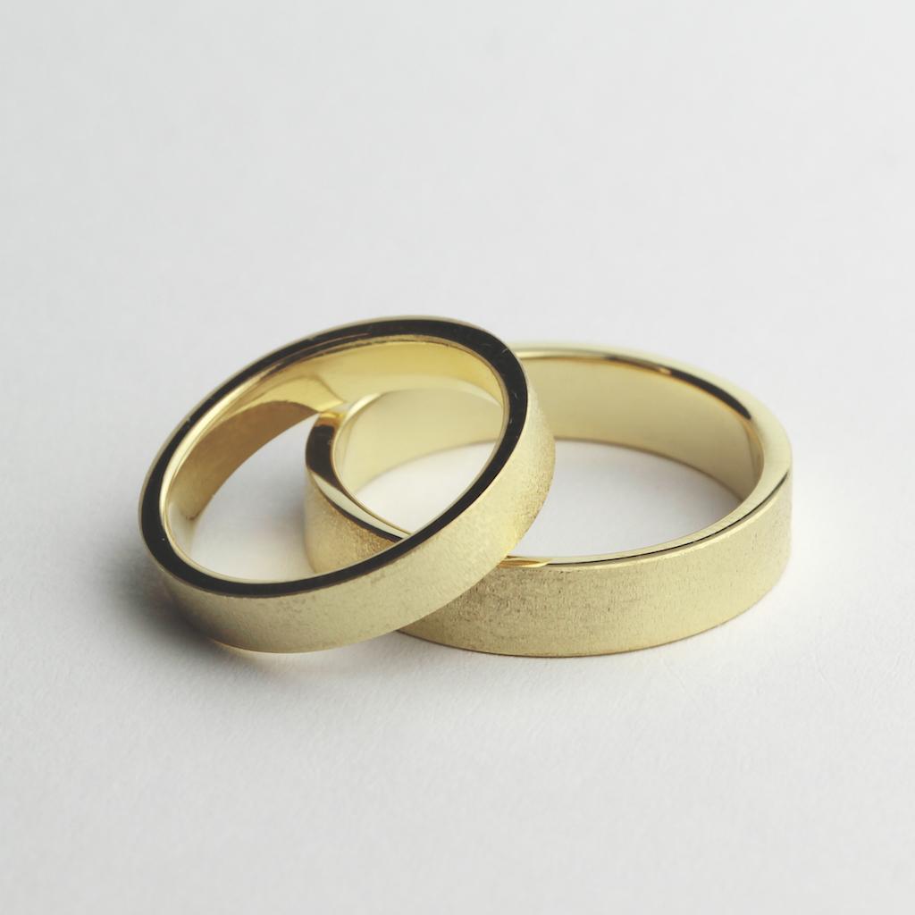 Obrączki ślubne druciany mat