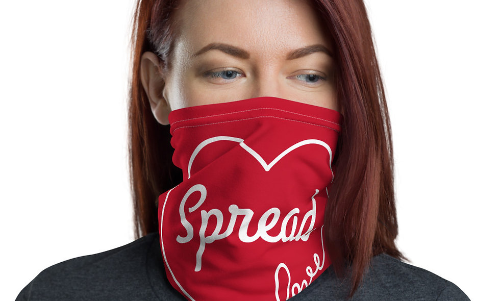 Spread Love Face and Neck Gaiter (Red)
