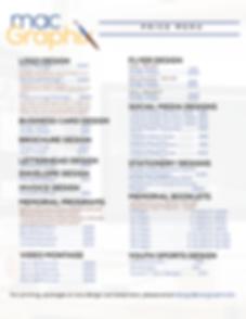 Mac GraphiX Graphic Design Price List.pn