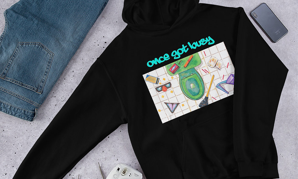 Once Got Busy Unisex Hoodie