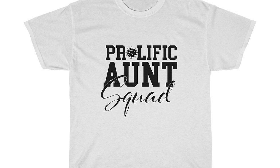 Prolific Aunt Squad Unisex Tee - White - TJ