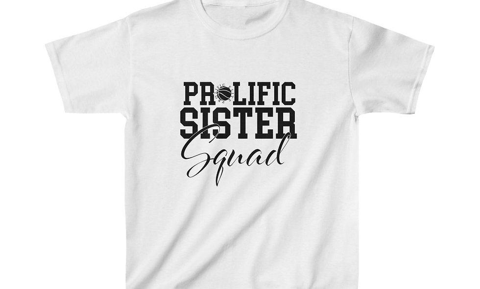 Prolific Sister Squad Kids Tee - White - Tyson