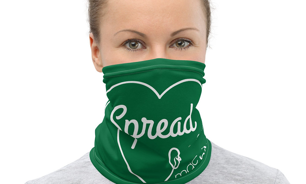 Spread Love Neck Gaiter (Green)